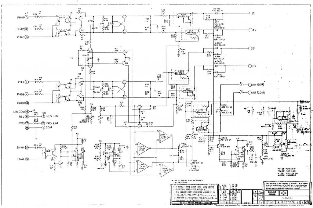 Driver Schematic1 conversion of shizuoka st n from bandit stepper to emc2 fanuc motor wiring at bayanpartner.co